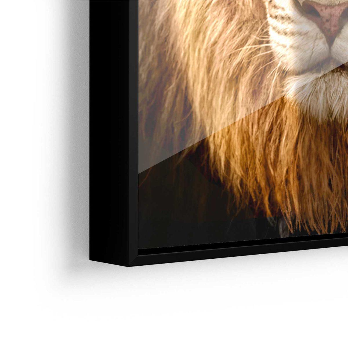 Quadro Decorativo com Alta Riqueza de Detalhes Leão de Judá
