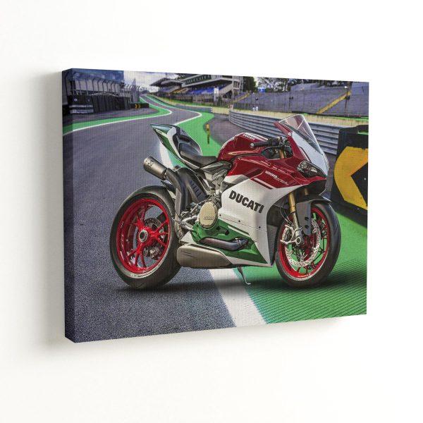 Quadro Decorativo Ducati Moto Pista de Corrida