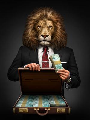 Quadro Negócios de Leão