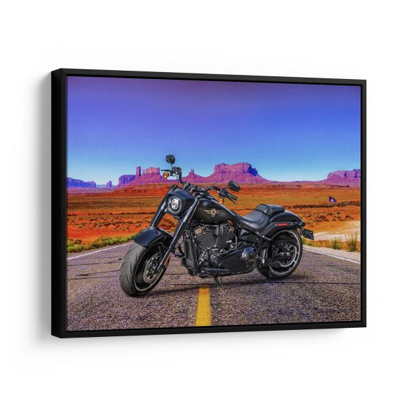 Quadro decorativo Fat Boy Moto Rota 66