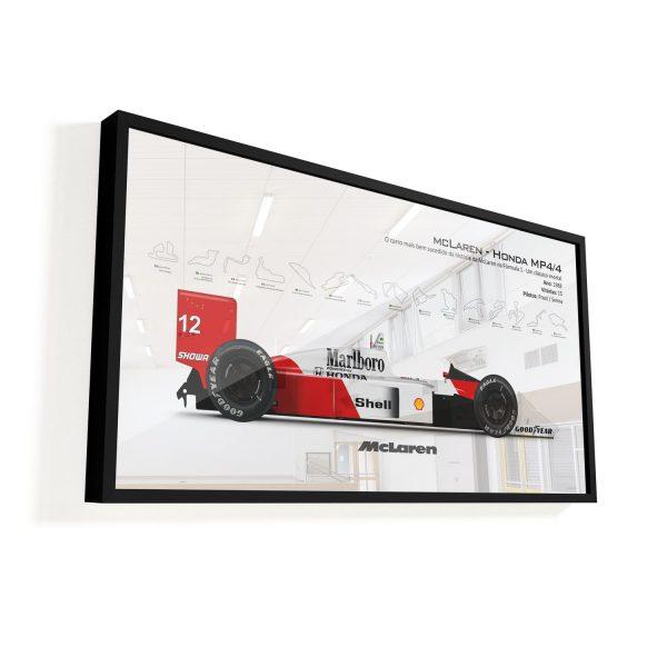 Quadro Decorativo Carro Fórmula 1 McLaren Senna