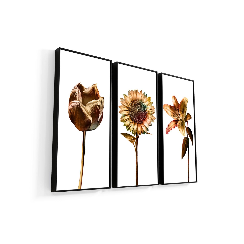 Quadro 3 flores