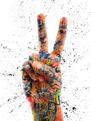Quadro Paz e Amor