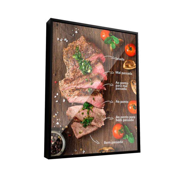 Quadro Decorativo para Churrasqueira Quadro Decorativo Carne Pontos da Carne