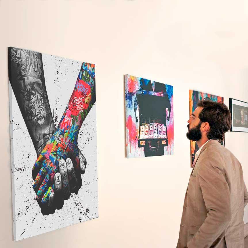 Quadro Decorativo paz e amor sempre unidos juntos quadros decorativos para sala