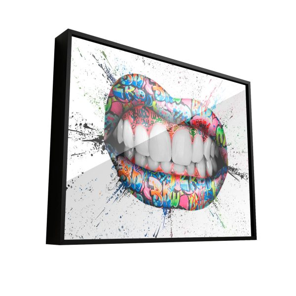Quadro Decorativo Grafitti Boca Bocas Lips