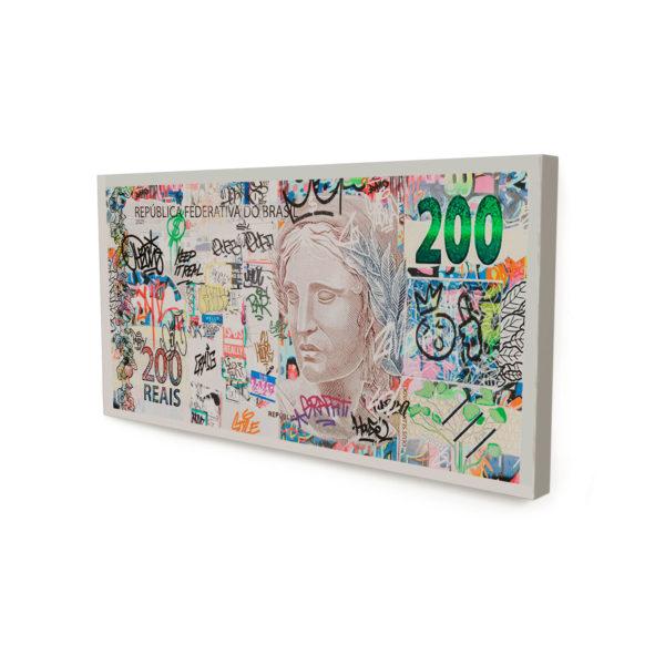 Quadro Decorativo para Empresários Meus 200 Reais