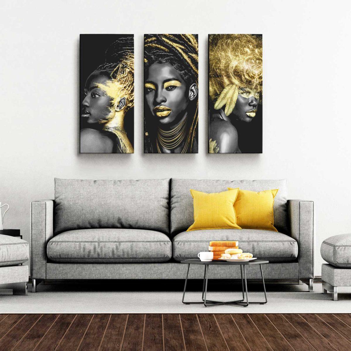 Quadro Decorativo para Sala Mulheres Africanas