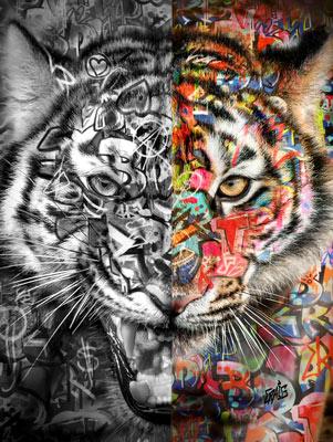 Quadro Seja Como Um Tigre Grafite CRAIG