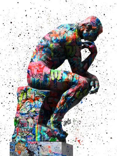 Quadro O Pensador Grafite CRAIG