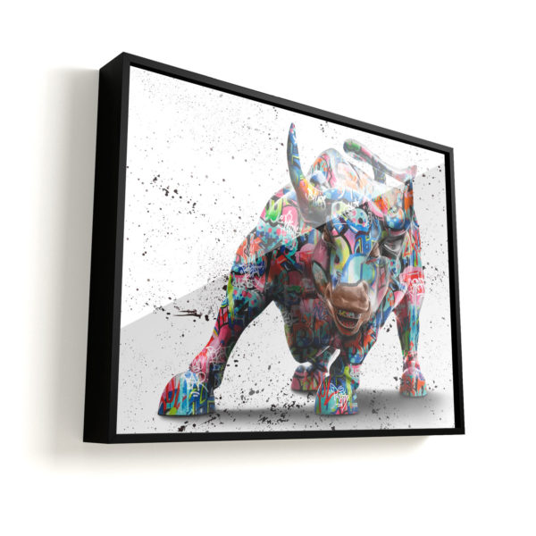 Quadro Decorativo Touro de Wall Street