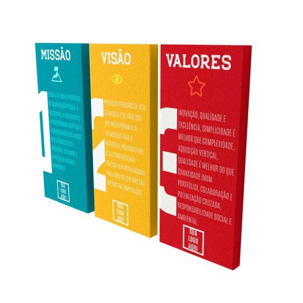 Quadro personalizado para sua empresa Missão Visão e Valores