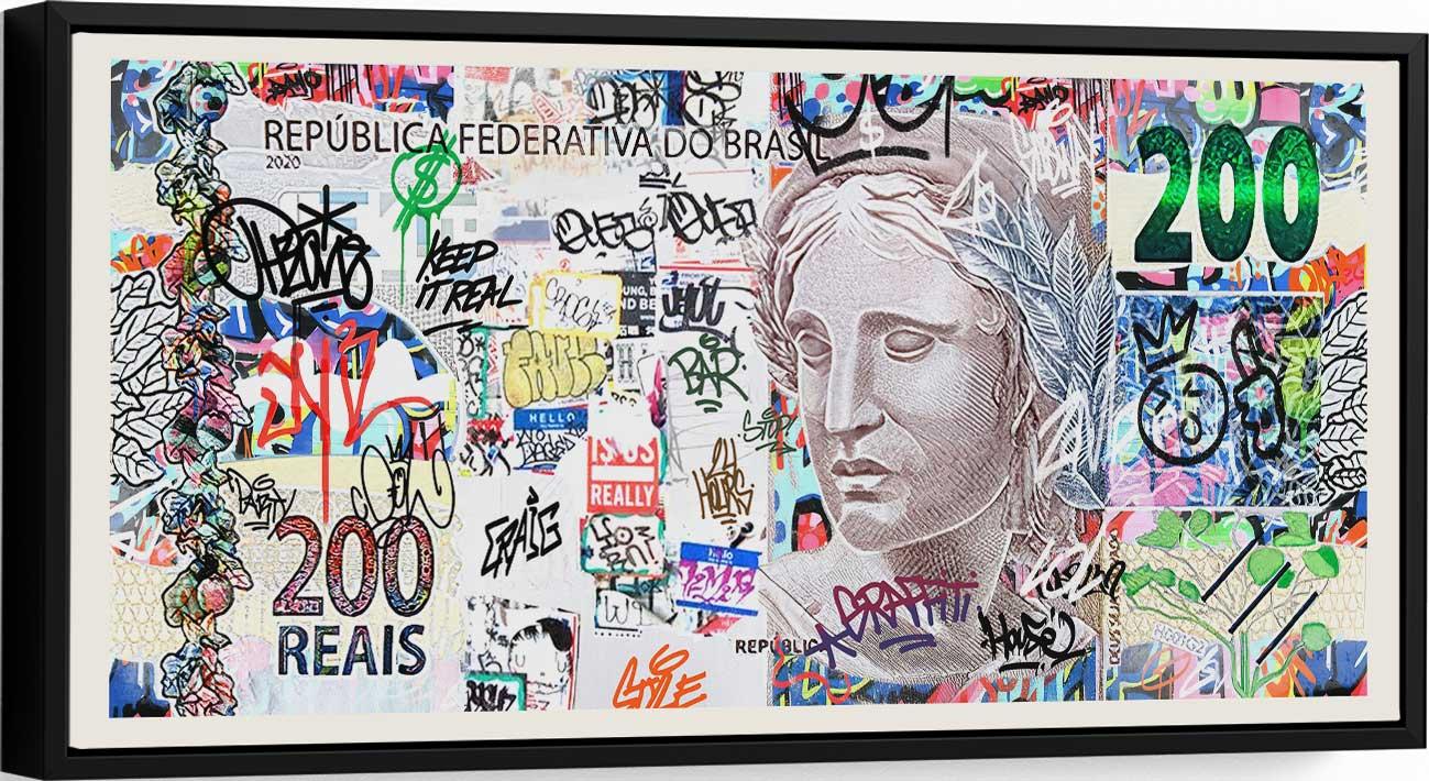 Quadro Meus 200 Reais Grafite Craig