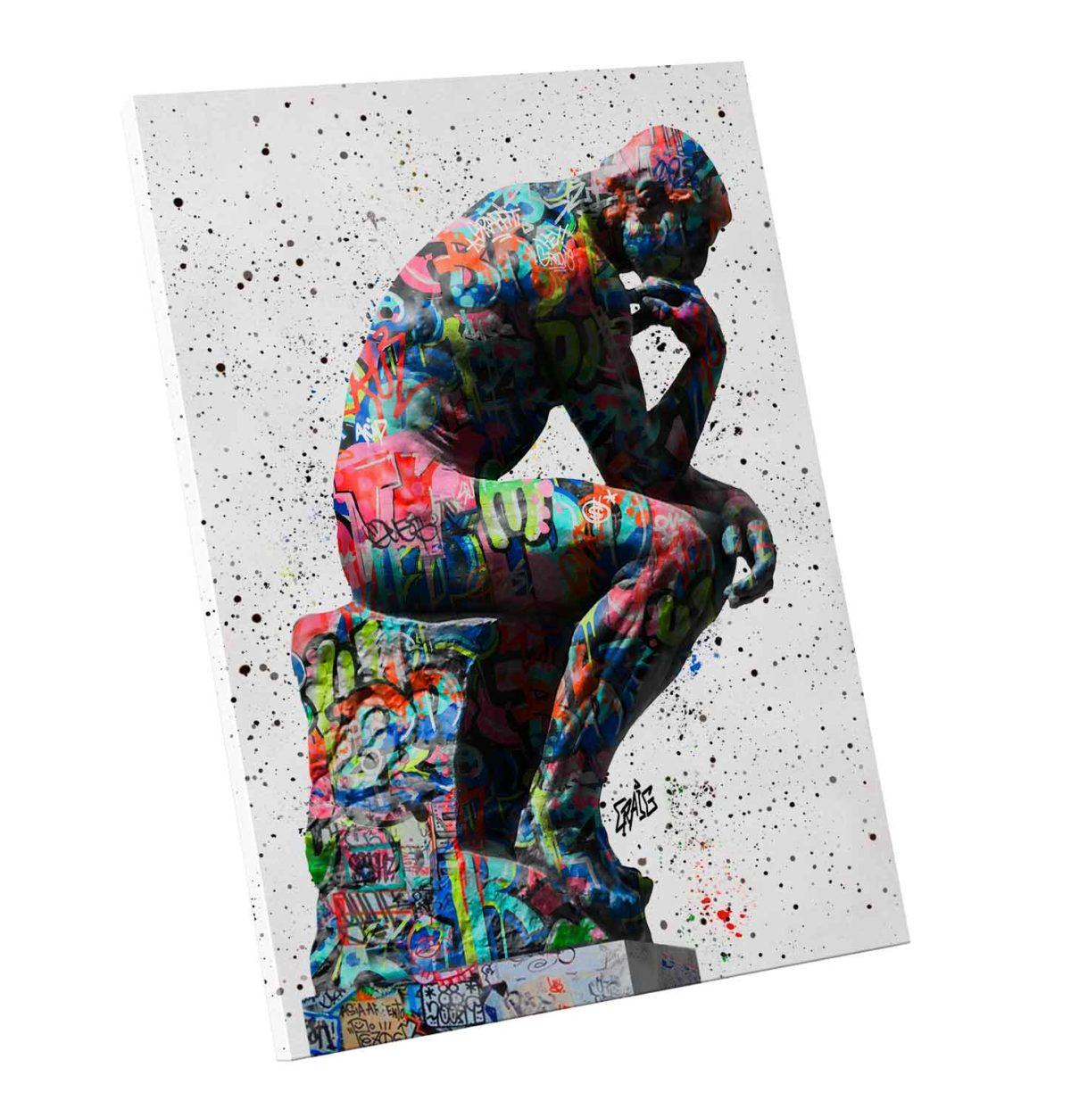 Quadro Decorativo O Pensador Grafite Craig