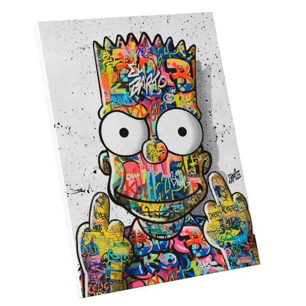 Quadro Decorativo para Quarto Bart Grafite