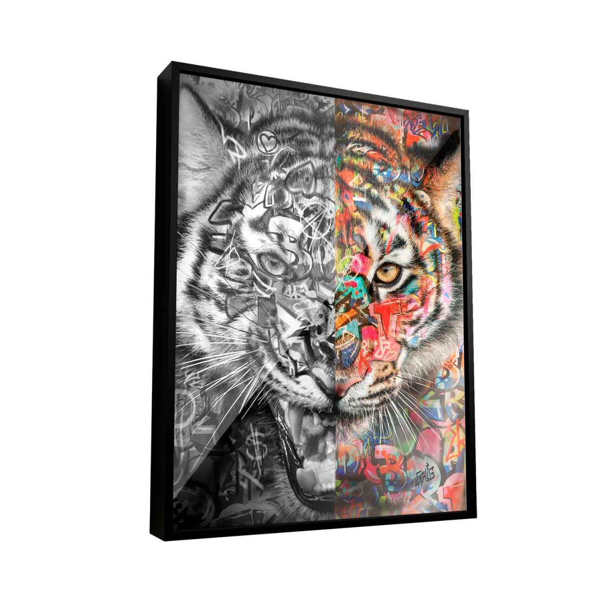 Quadro Decorativo para Empresário Seja Como Um Tigre