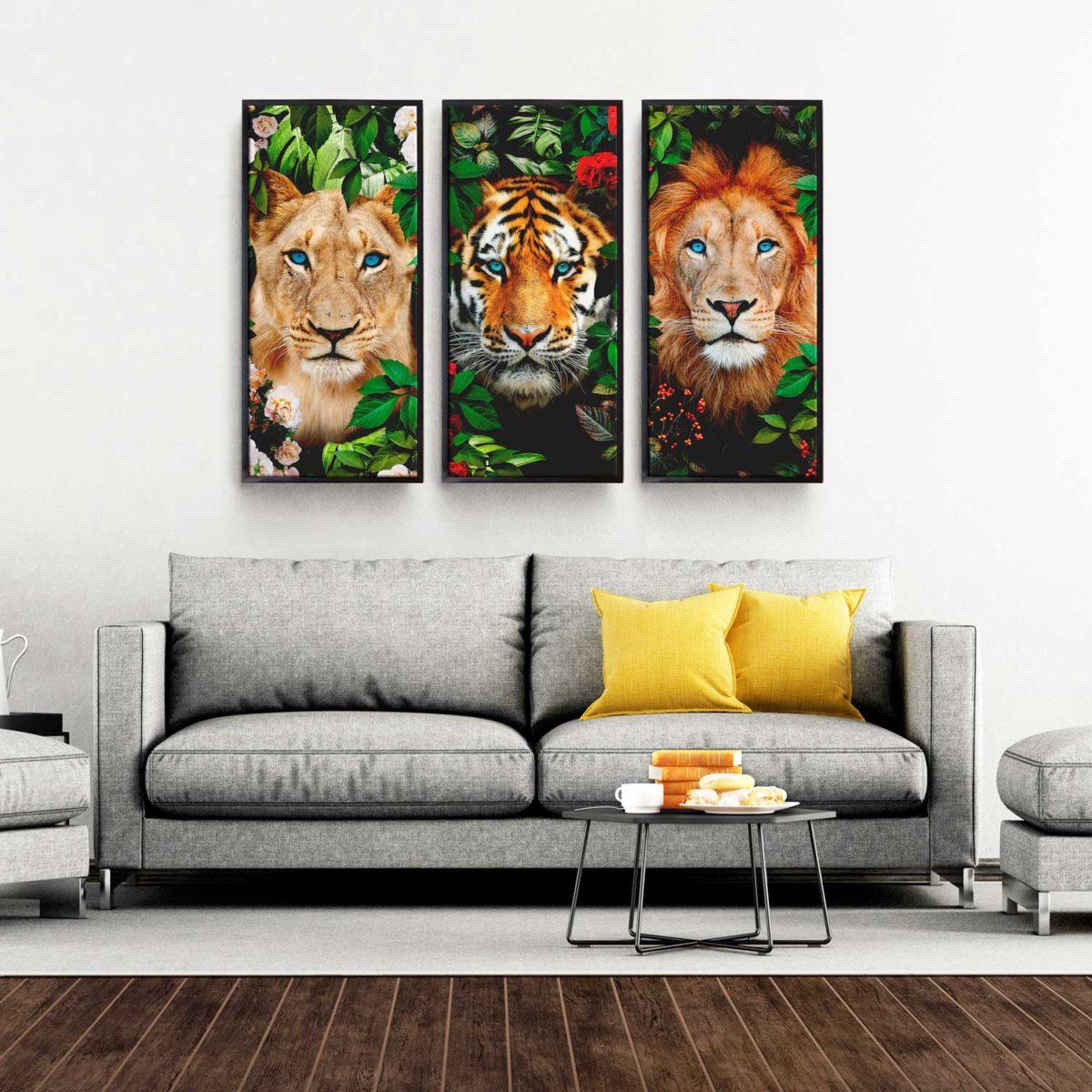 Quadro decorativo Selvagem 3 Peças