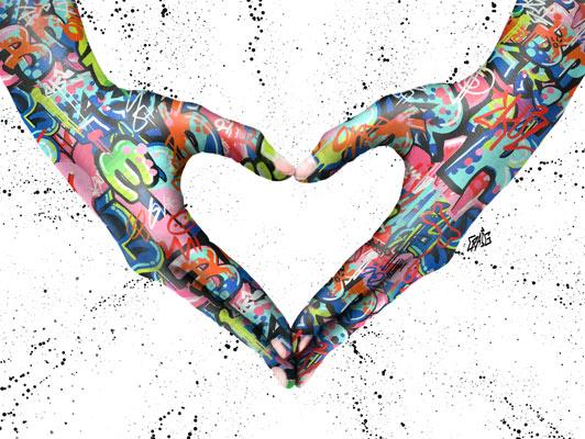 Quadro Amor Grafite CRAIG