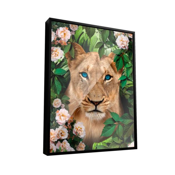 Quadro Decorativo Leoa Na Floresta