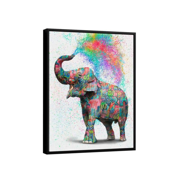 Quadro Elefante Colorido