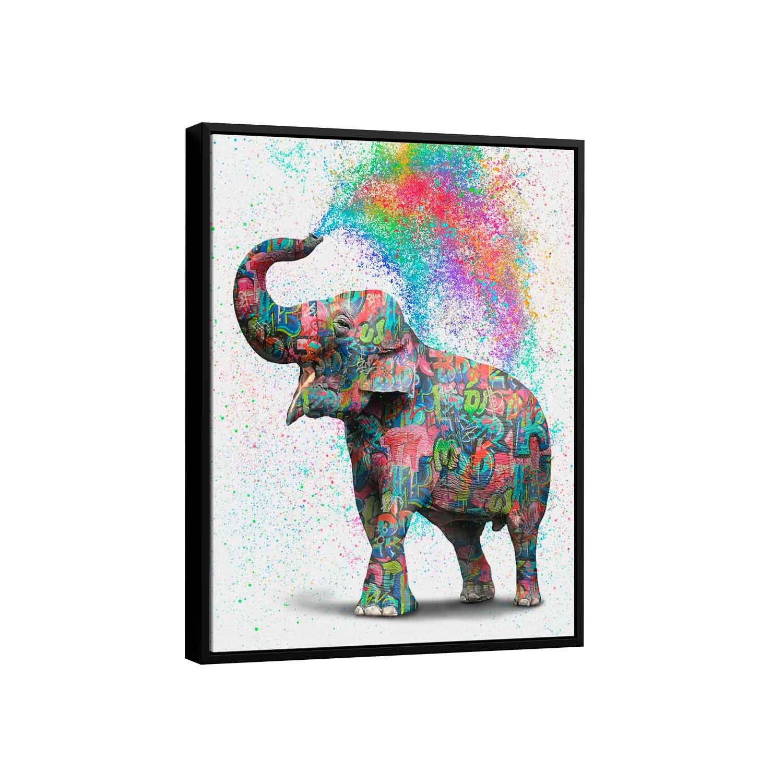 Quadro Elefante Colorido Grafite CRAIG
