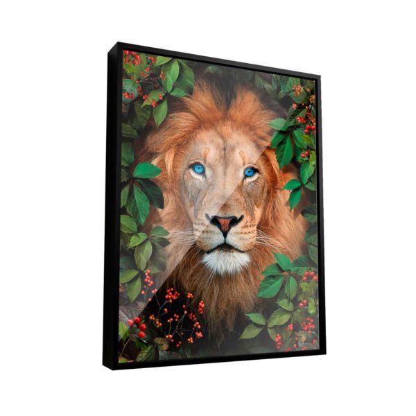 Quadro Decorativo Leão Na Floresta