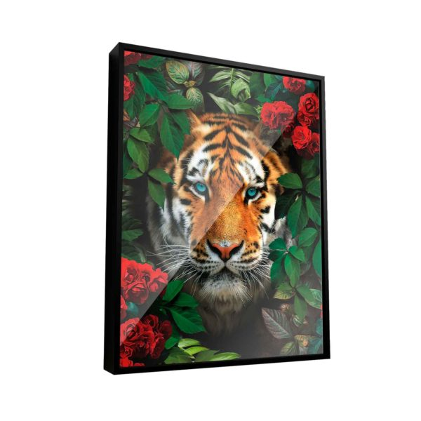 Quadro Decorativo Tigre Na Floresta
