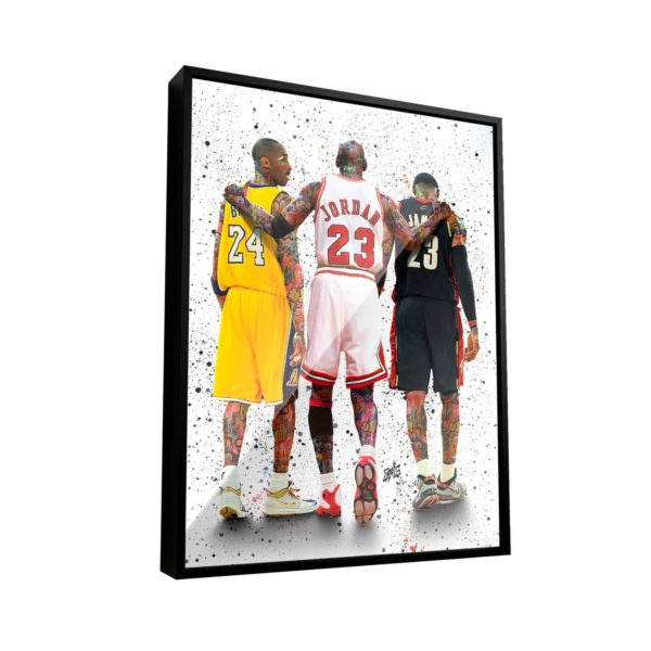 Quadro Decorativo Basquete As Lendas Jordan Brian James