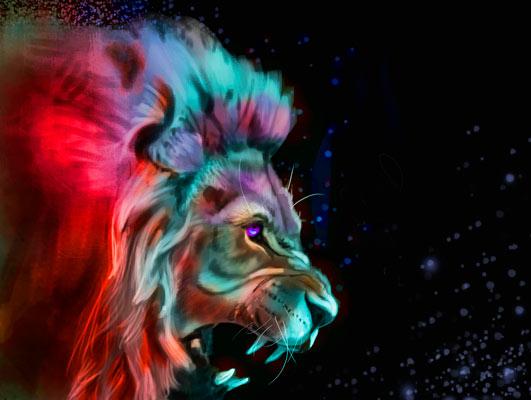 Quadro Espírito de Leão