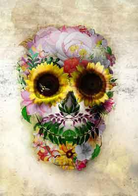 Quadro Dia dos Mortos na Primavera Mexicana