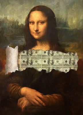 Quadro A Incrível Money Lisa