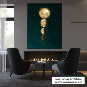 """Quadro """"Fases da Lua"""""""