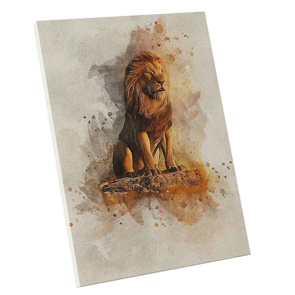Quadro O Rei Leão no Mármore
