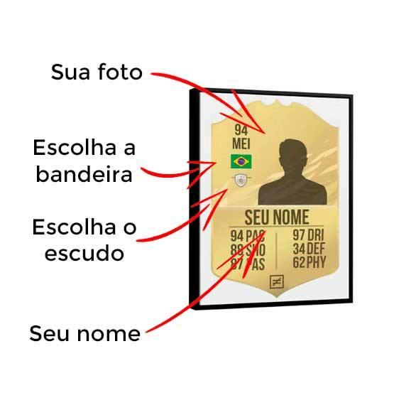 Quadro Personalizado Card FIFA21