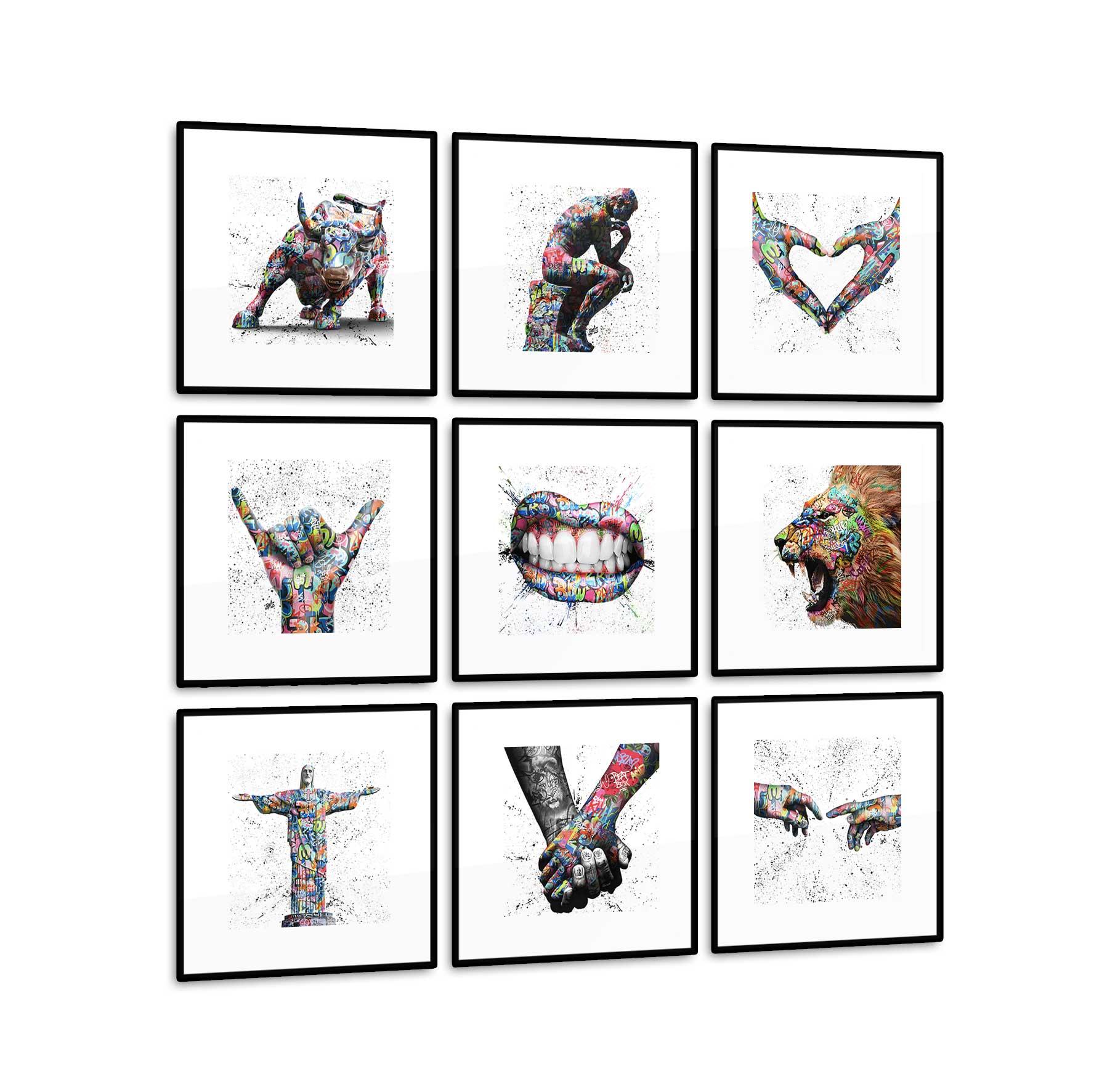 Conjunto 9 Quadros Decorativos CRAIG