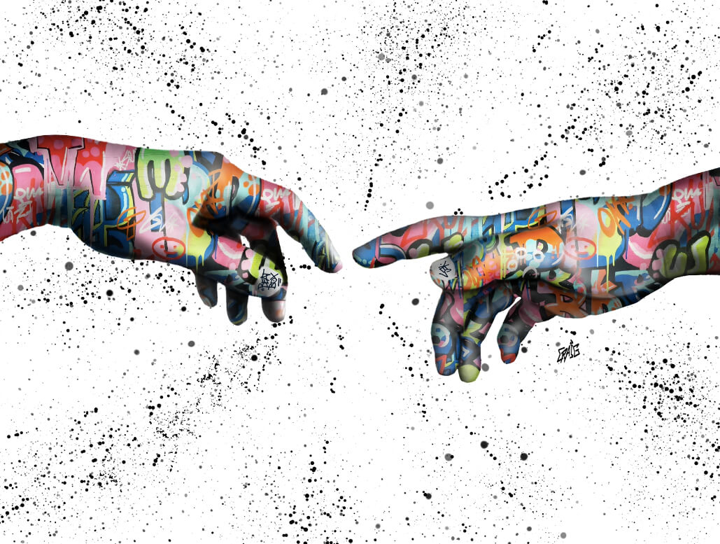Quadro A criação de Adão Grafite CRAIG