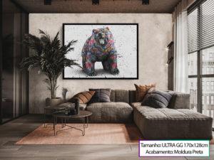 """Quadro """"Urso de Wall Street Grafite CRAIG"""""""