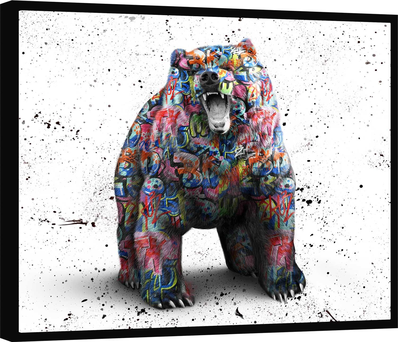 Quadro Urso de Wall Street Grafite CRAIG