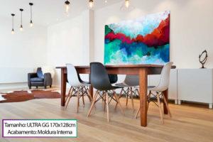 """Quadro para sala """"Abstrato Formas Coloridas"""""""