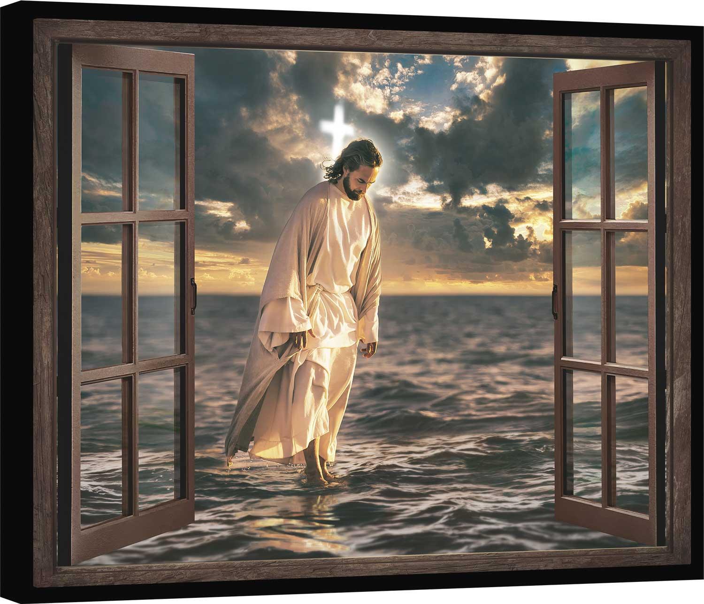 Quadro Jesus Sempre Está Presente