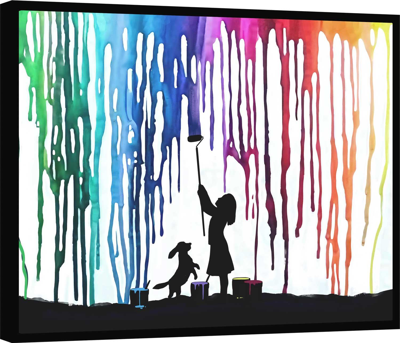 Quadro Colorindo o Mundo