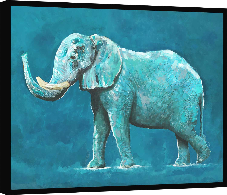 Quadro Elefante Azul