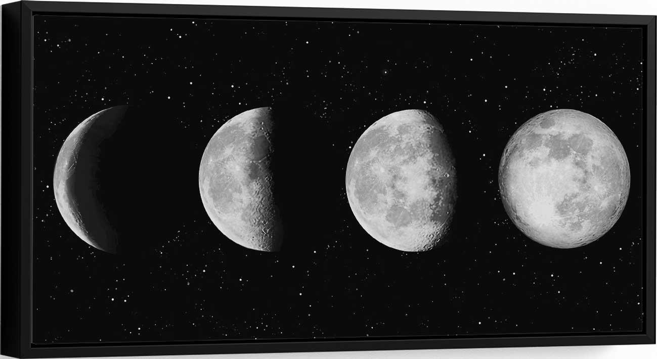 Quadro Fases da Lua Branca