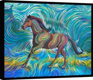 Quadro Cavalo Coleção Loving Vincent