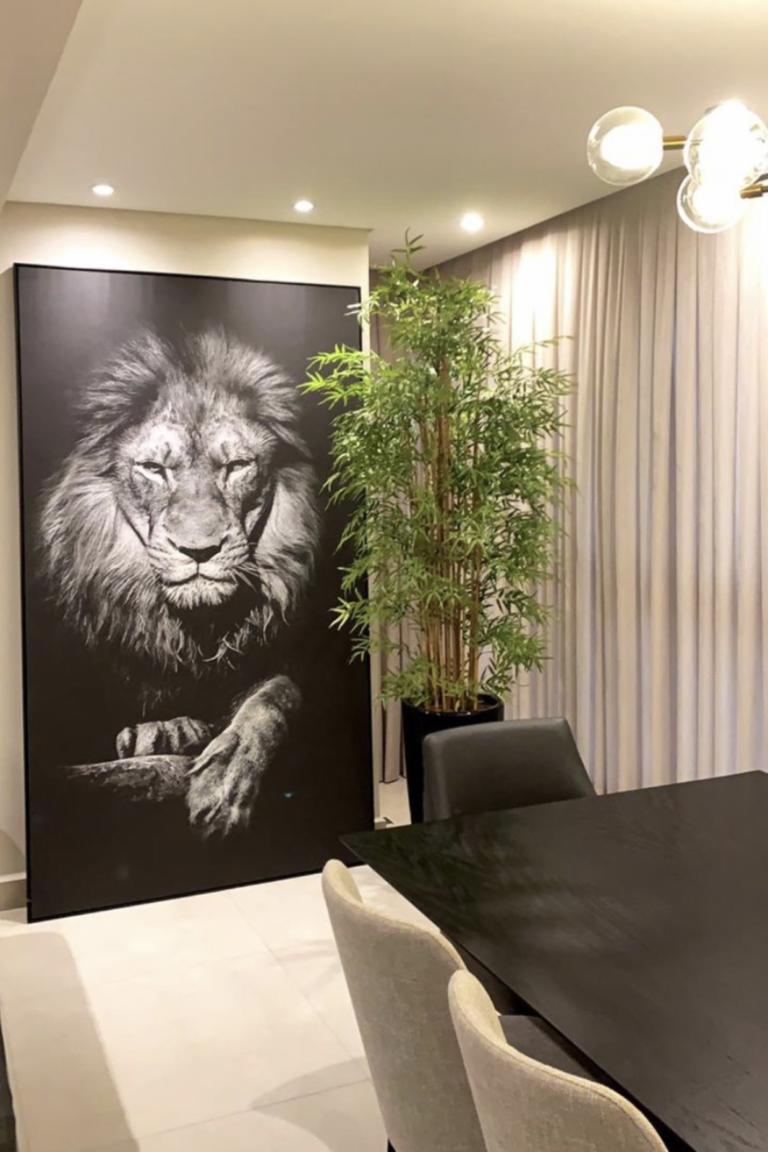 Quadro Leão no Preto photo review