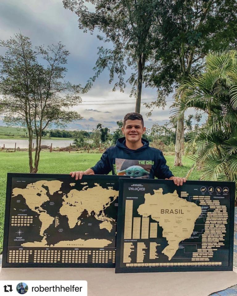 Mapa do Brasil de Raspar Unlocked Médio 82x60CM photo review
