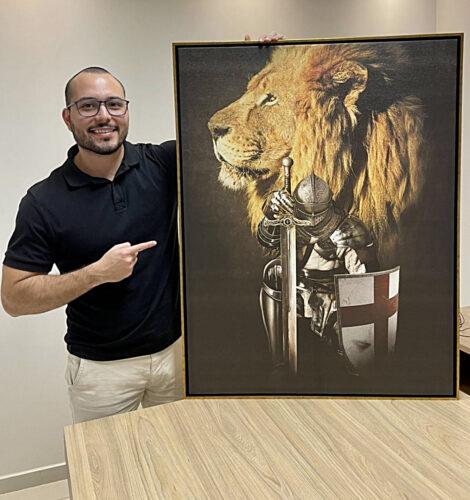 Quadro Cavaleiro de Cristo photo review