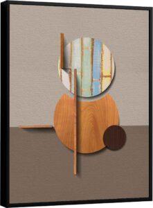 Quadro Abstrato Bambu – Coleção Amadeirado