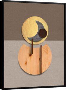 Quadro Abstrato Círculo Lunar – Coleção Amadeirado