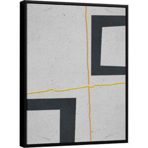 Quadro Abstrato Paralelos – Coleção Urbana